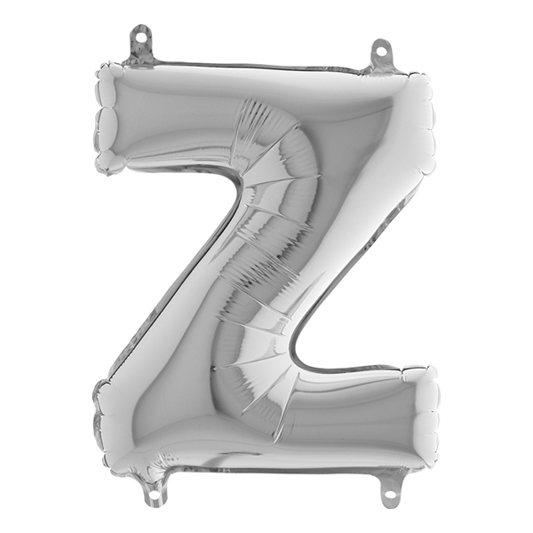 Bokstavsballong Mini Silver - Bokstav Z