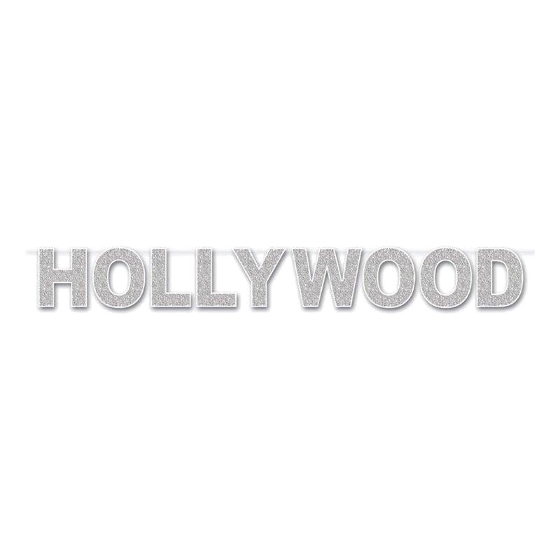 Bokstavsbanner Hollywood Glitter
