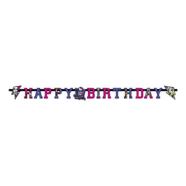 Bokstavsgirlang Happy Birthday Monster High 2
