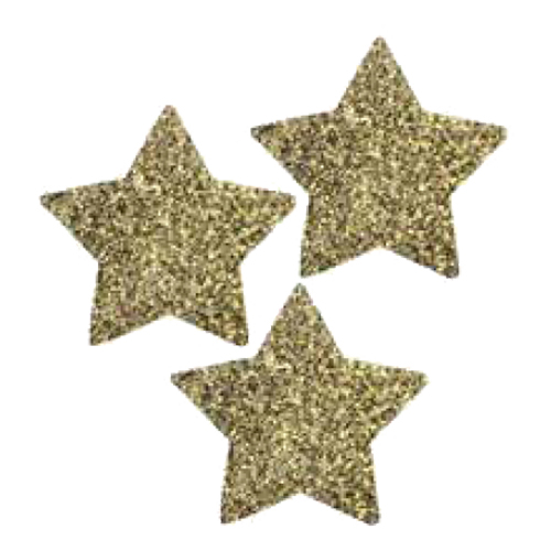 Bordsdekorationer Stjärnor Guld Glitter - 30st