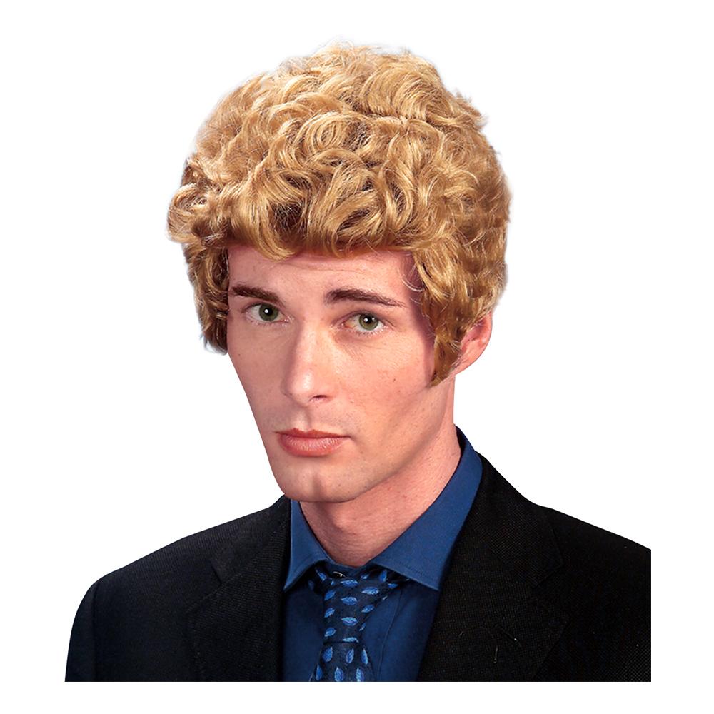 Brad Blond Peruk med Polisonger
