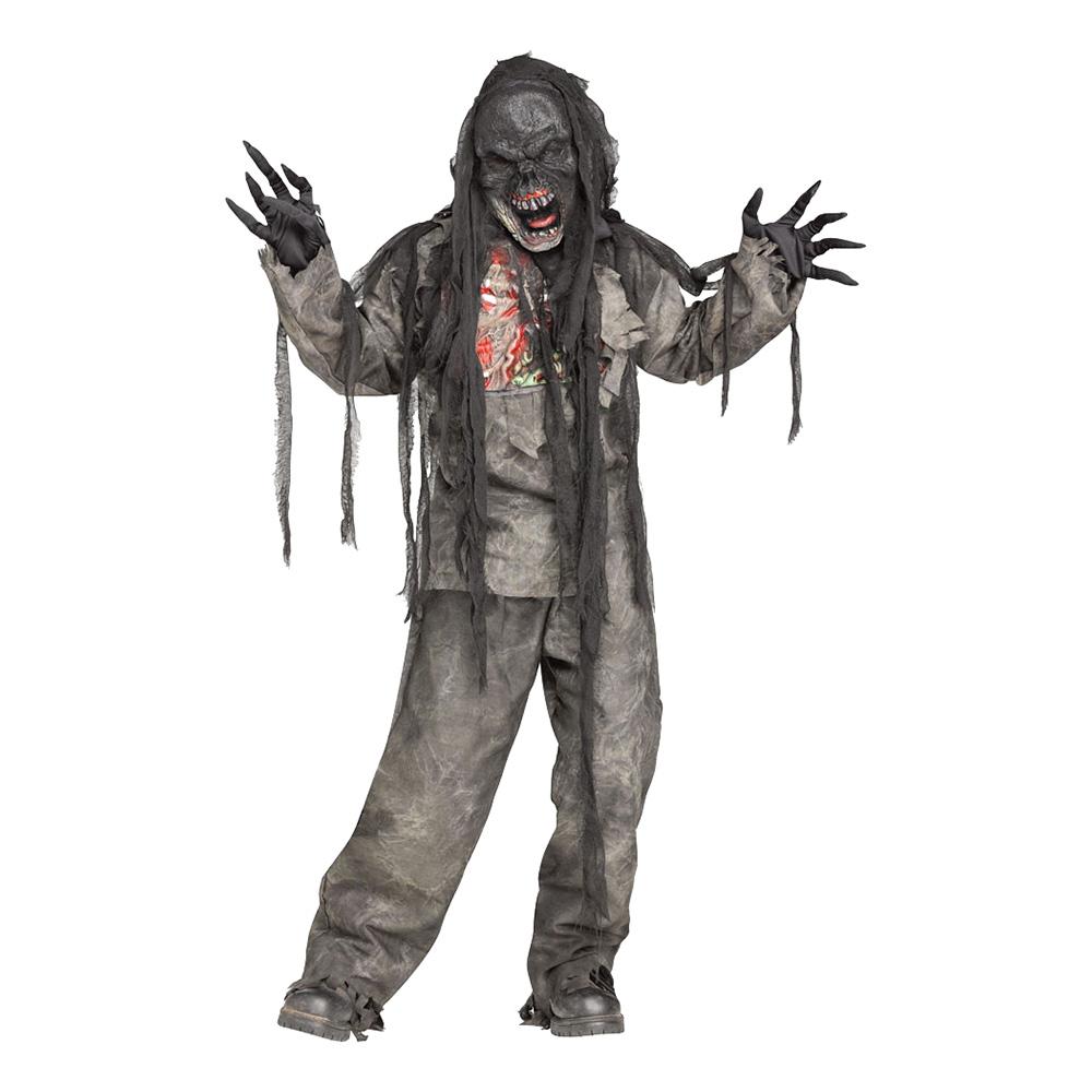 Brännskadad Zombie Barn Maskeraddräkt - Medium