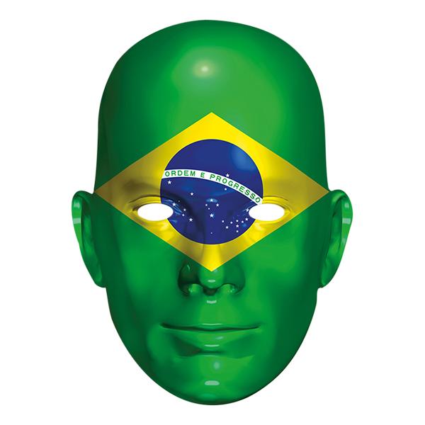 Brasiliens Flagga Pappmask