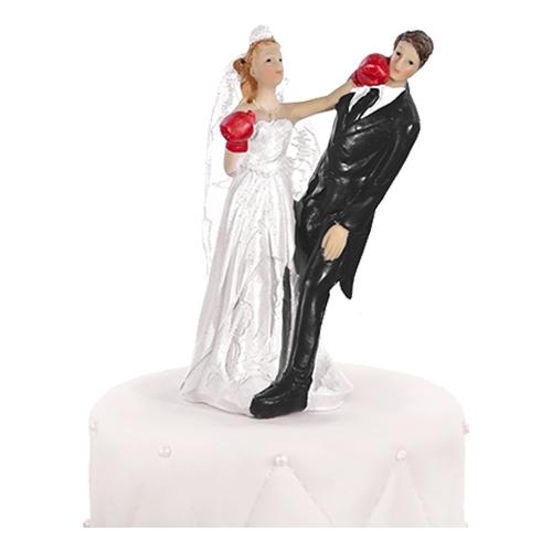 Bröllopsfigur Boxande Brud