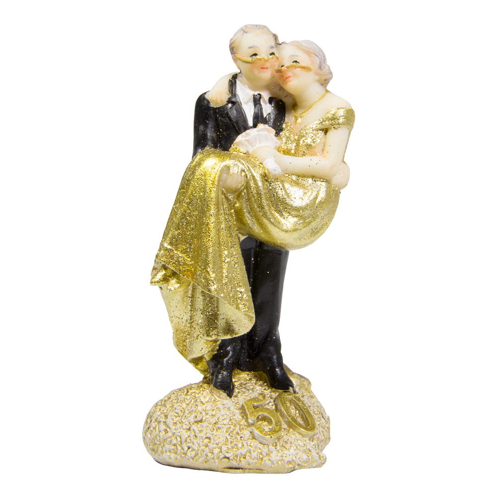 Bröllopsfigur Brudpar 50 Guld