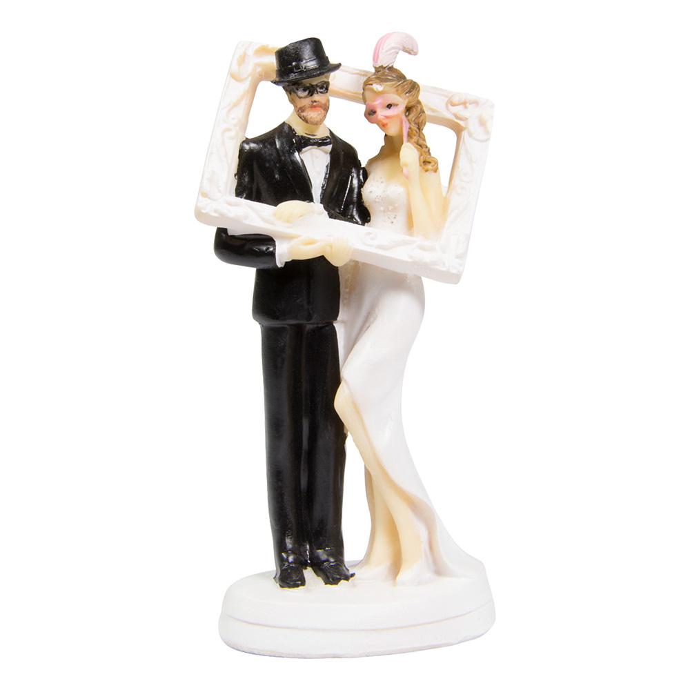 Bröllopsfigur Brudpar i Photo Booth