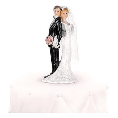 Bröllopsfigur Nygifta Rygg mot Rygg