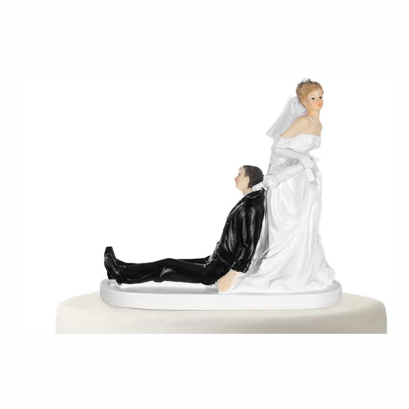Bröllopsfigur Paraply - 13 cm plast
