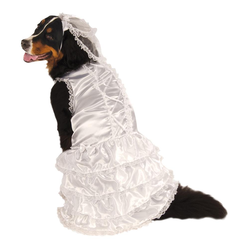 Brudklänning Hund XL Maskeraddräkt - XX-Large