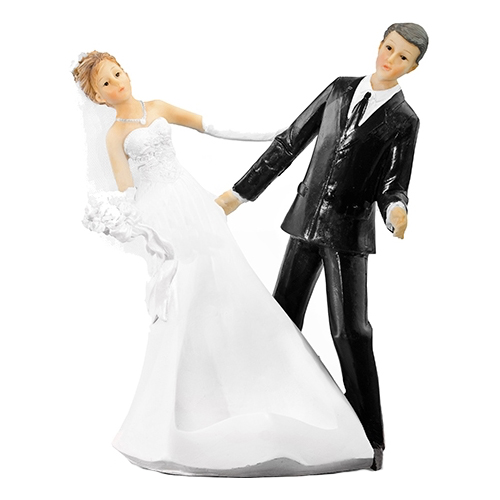 Bröllopsfigur Nygifta Dansande