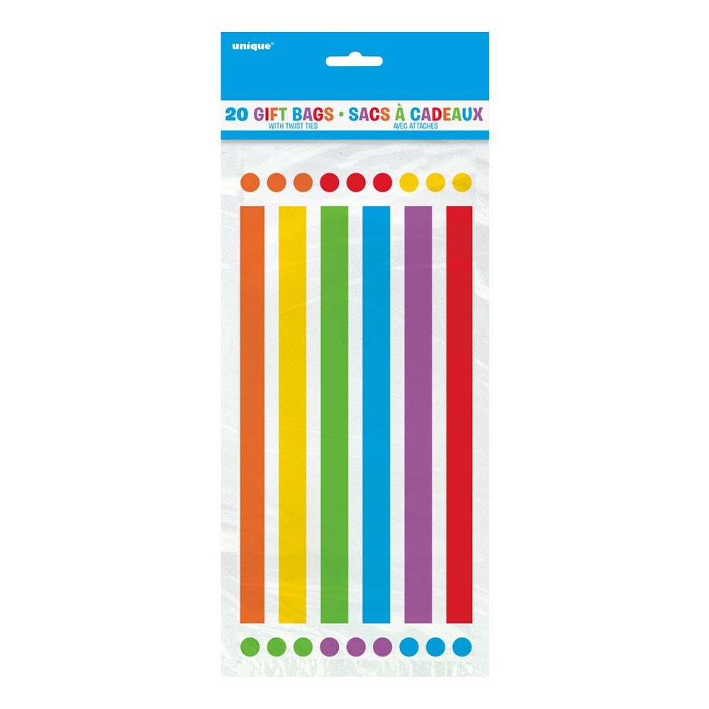 Cellofanpåsar Rainbow - 20-pack