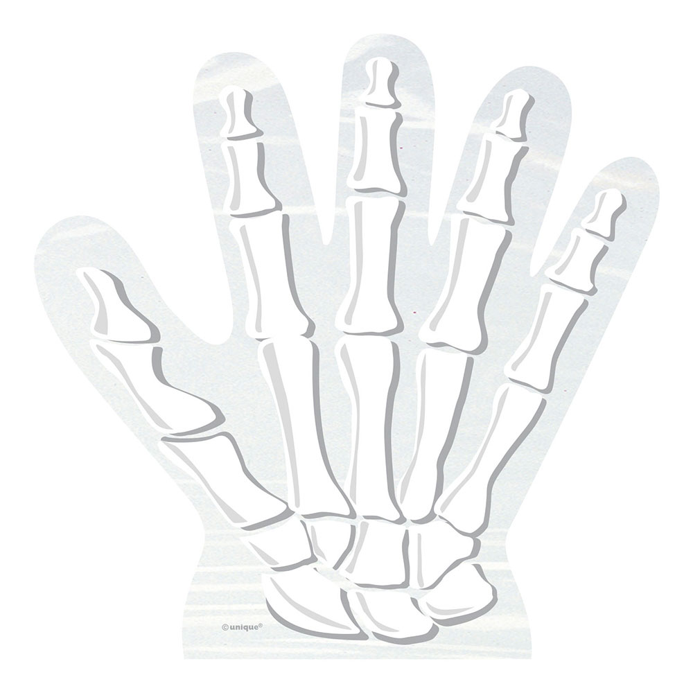 Cellofanpåsar Skeletthand - 10-pack