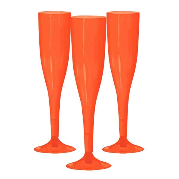 Champagneglas av Plast Orange - 20-pack