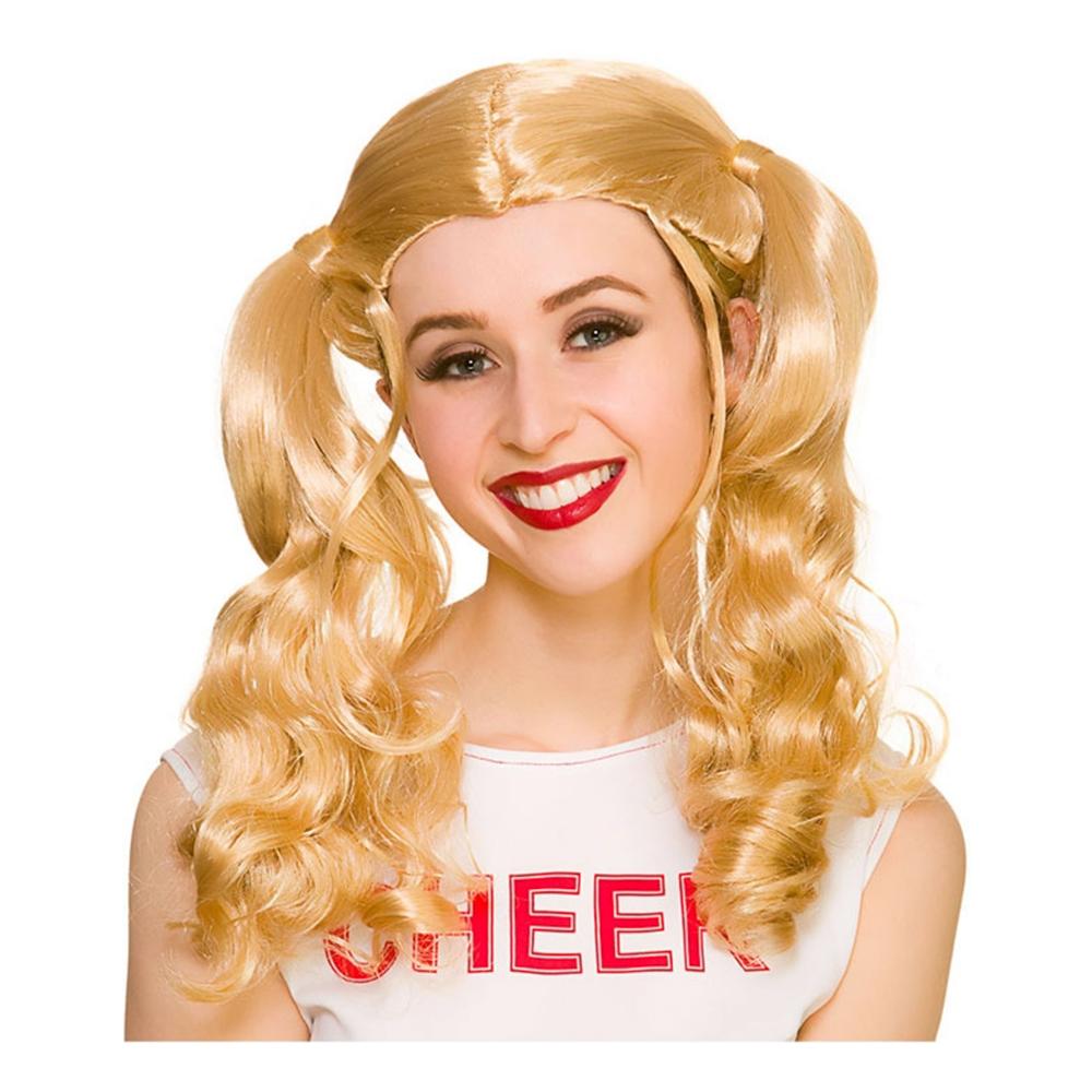 Cheerleader Blond Peruk - One size