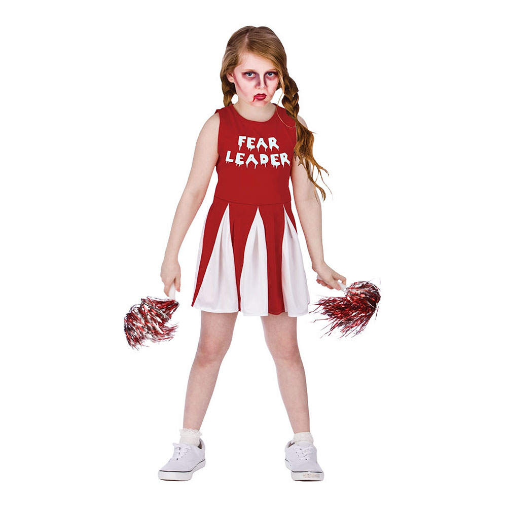 Cheerleader Halloween Barn Maskeraddräkt - Medium