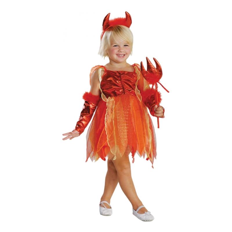 Lilla Djävulen Barn Maskeraddräkt - Small