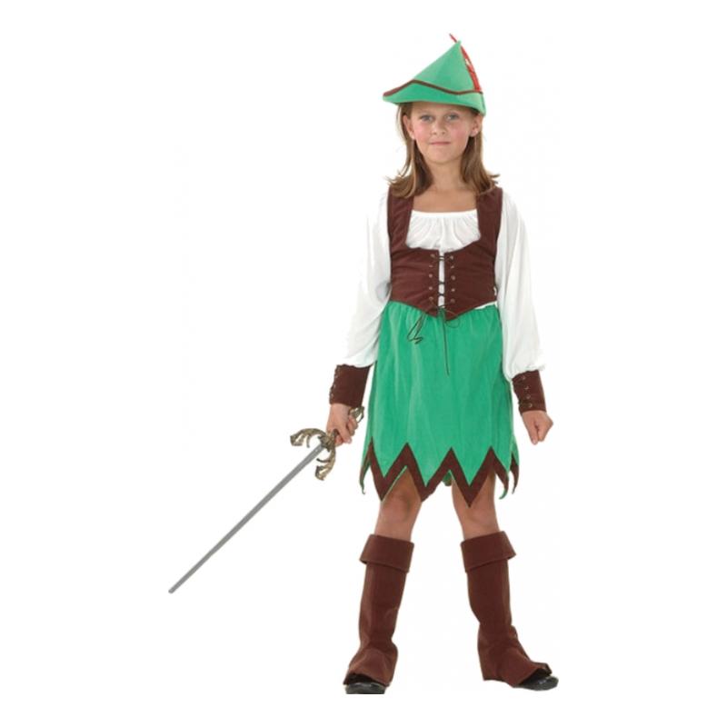 Robin Hood Flicka Barn Maskeraddräkt - Small