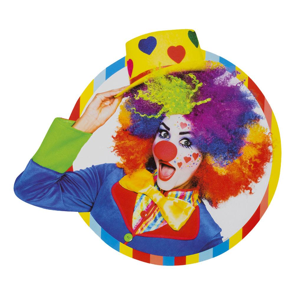Cirkusclown Väggdekoration