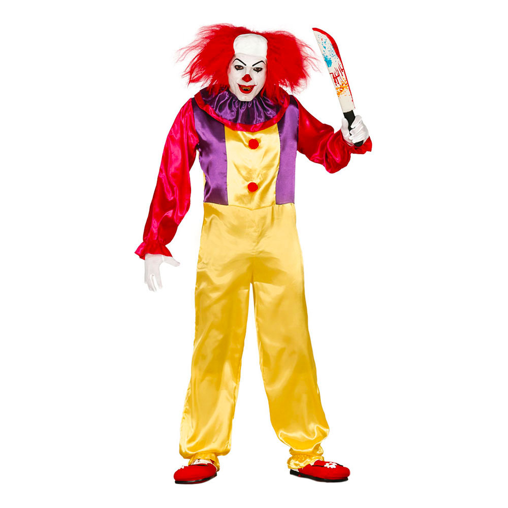 Clown Halloween Maskeraddräkt - Medium