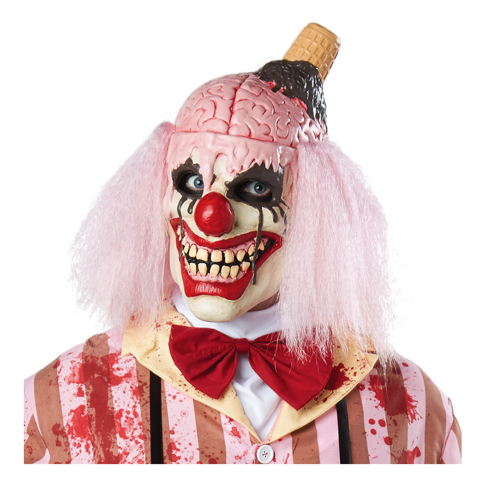 Clown med Hjärna Mask - One size