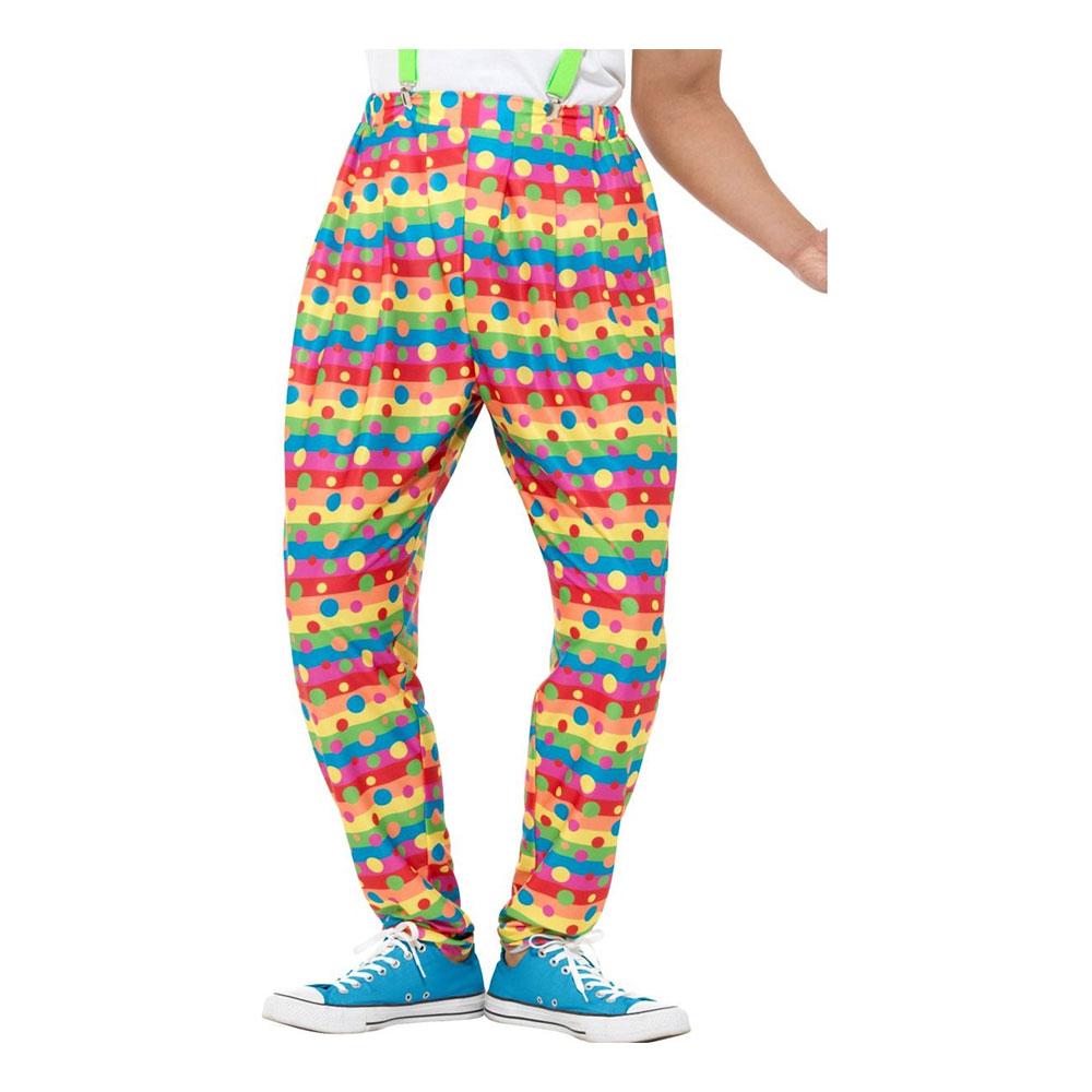 Clownbyxor Neonfärgade Prickiga - Medium