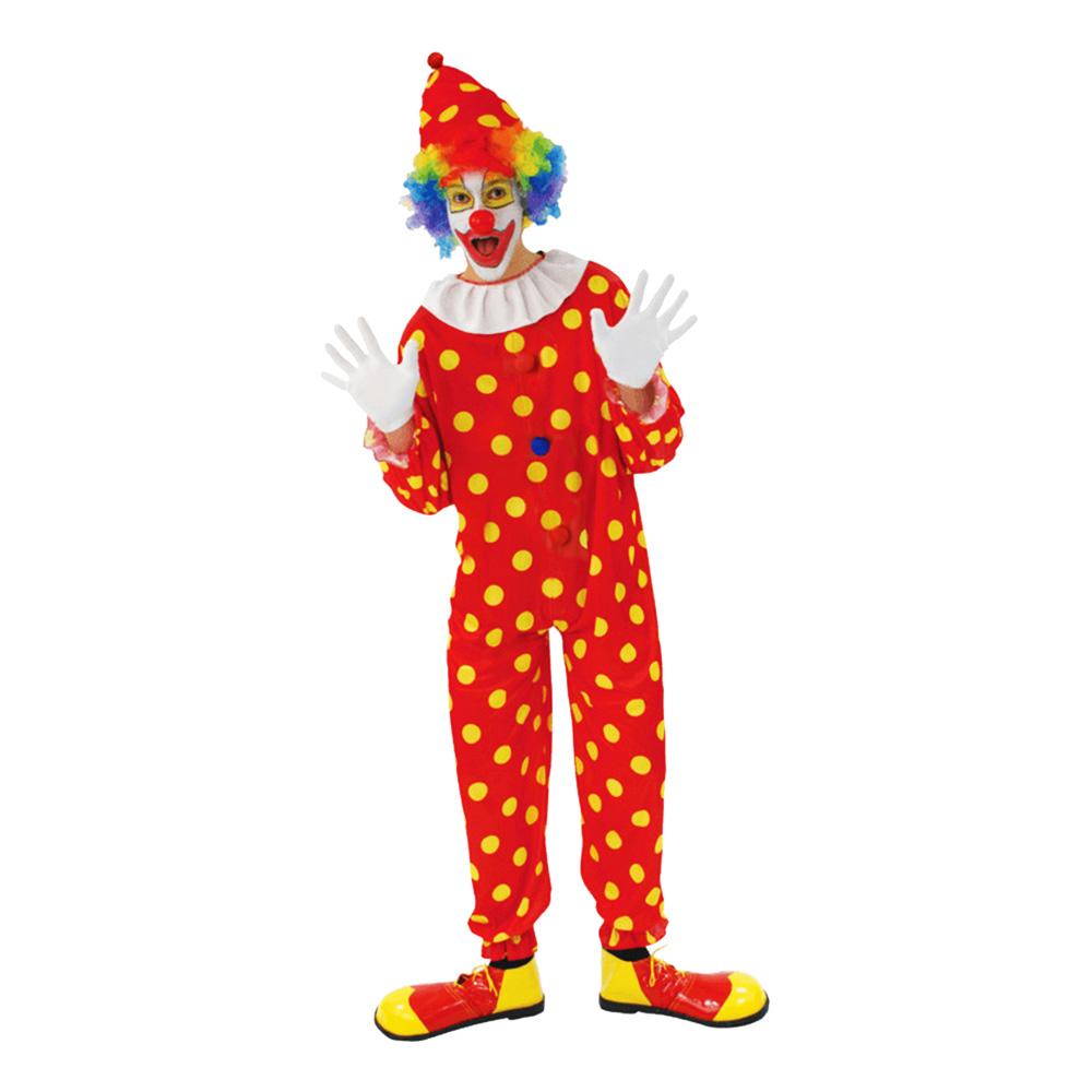 Clownen Bobbles Maskeraddräkt - Standard