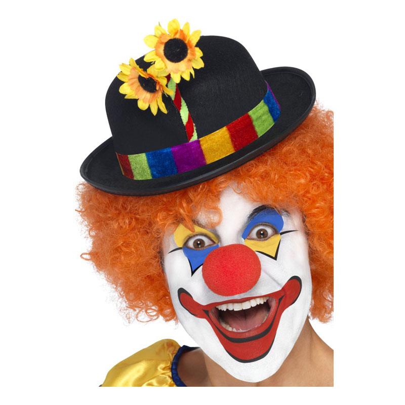 Clownhatt med Blomma - One size Billigt 69 kr 1dc6b1c495fca