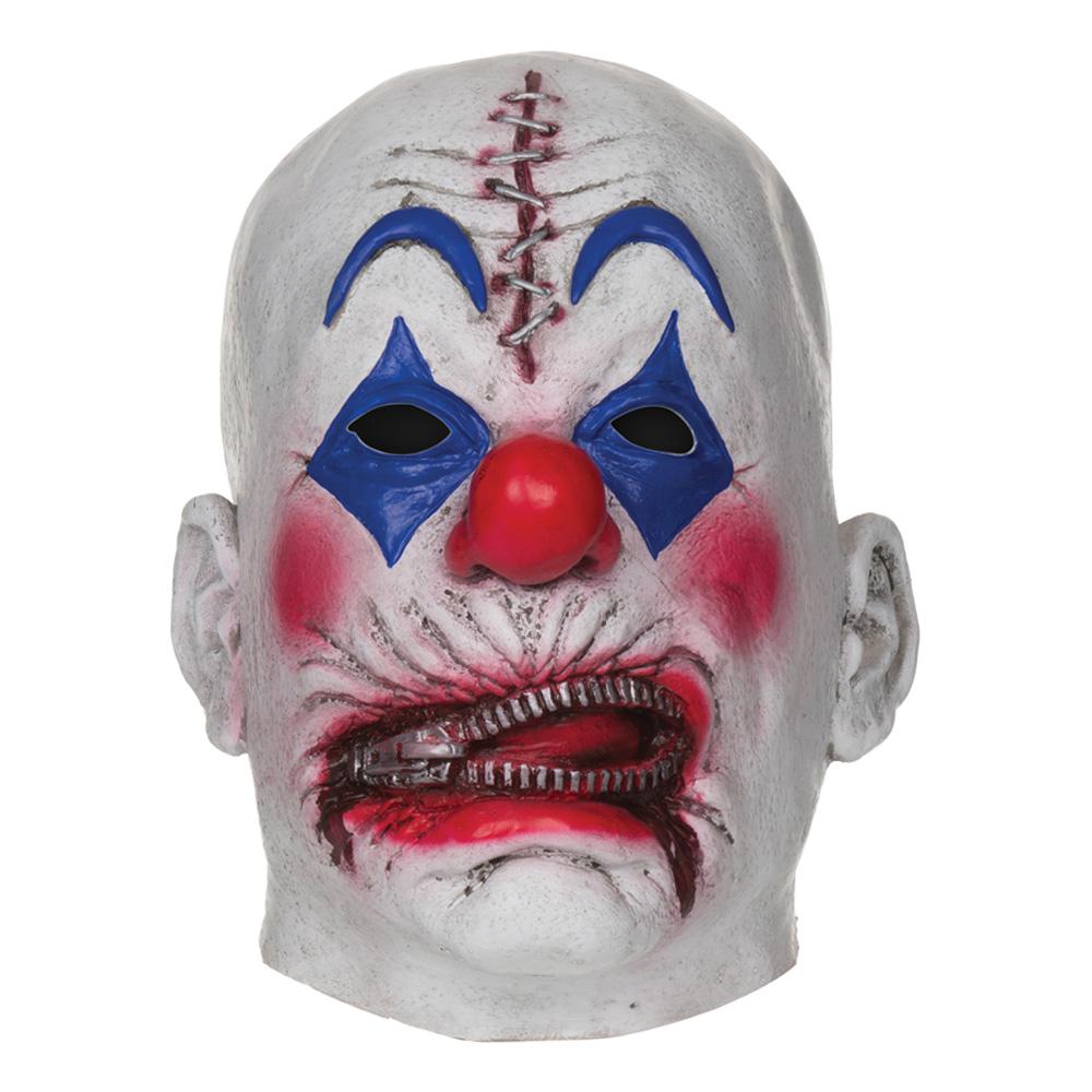 Clownmask med Dragkedja och Stygn - One size