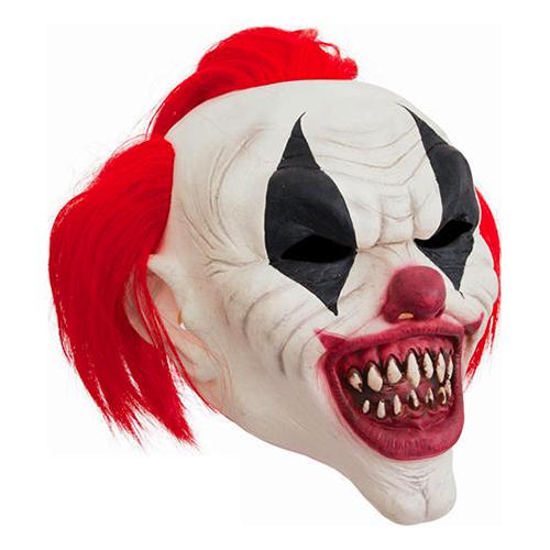 Clownmask med Hår
