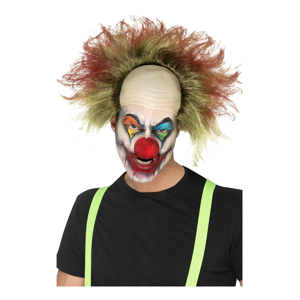 Clownperuk Halloween med Flint - One size