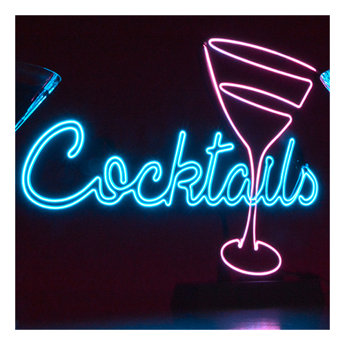Cocktail Neonskylt