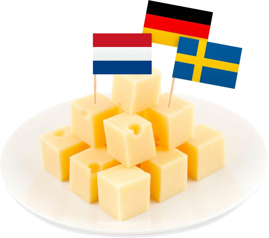 Cocktailflaggor Europa - 50-pack