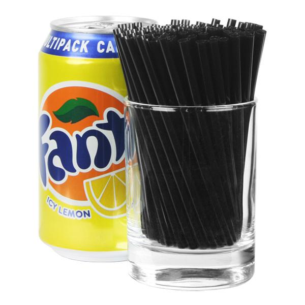 Cocktailsugrör Svarta - 1000-pack