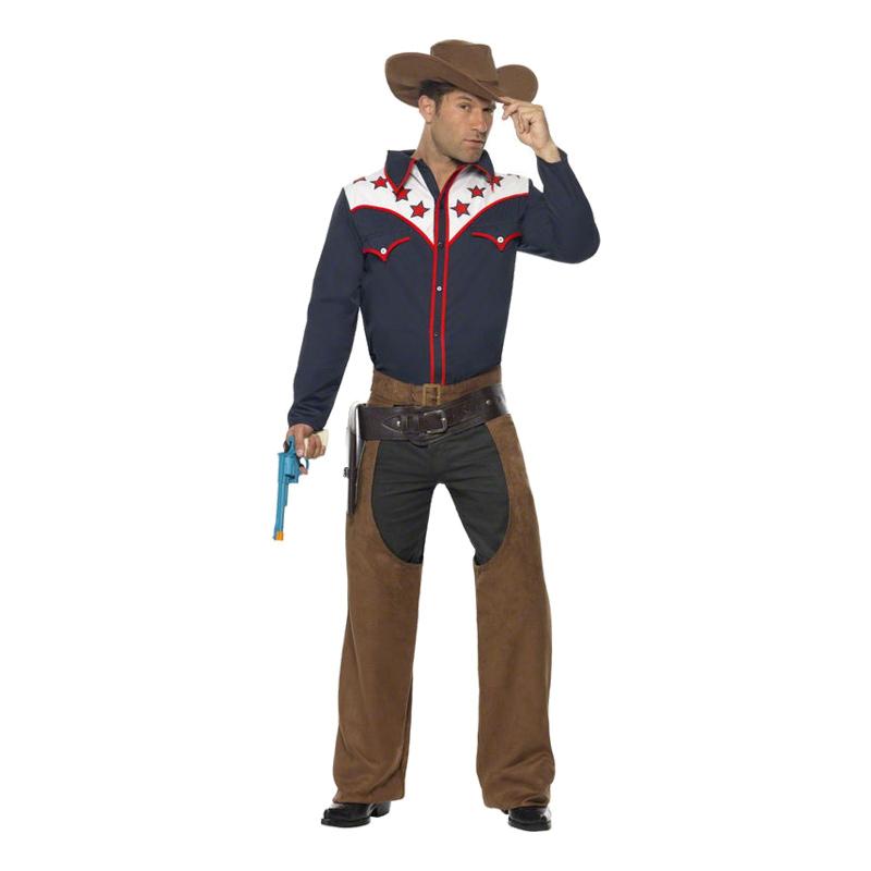 Cowboy Maskeraddräkt - Medium