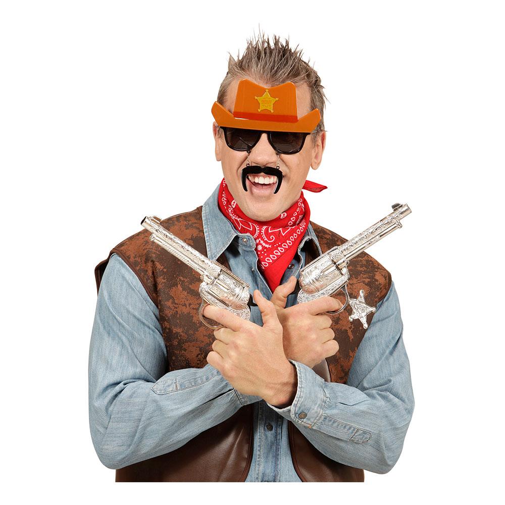Cowboyglasögon med Mustasch