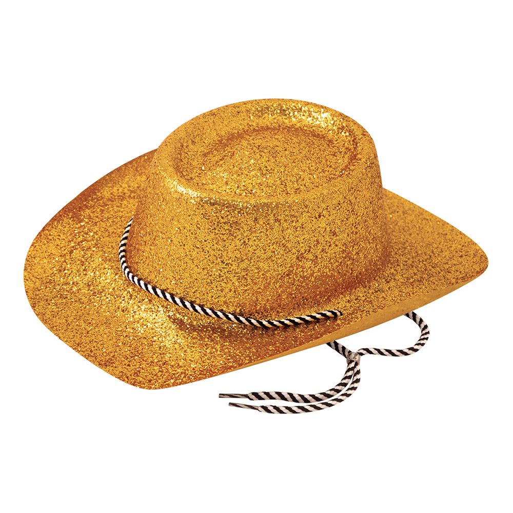 Cowboyhatt Guld Glitter - One size