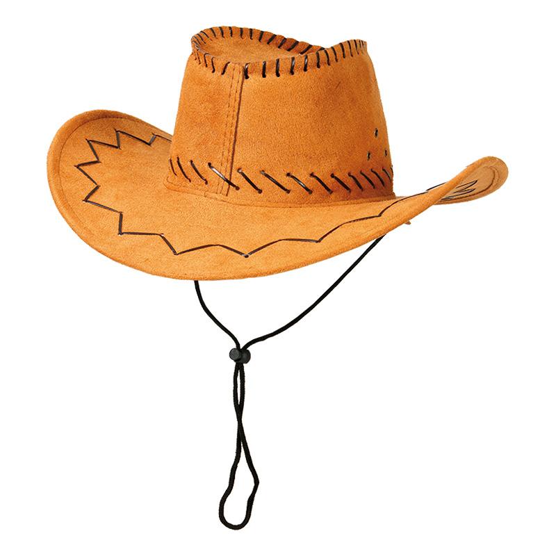Cowboyhatt med Sicksack-stygn - One size