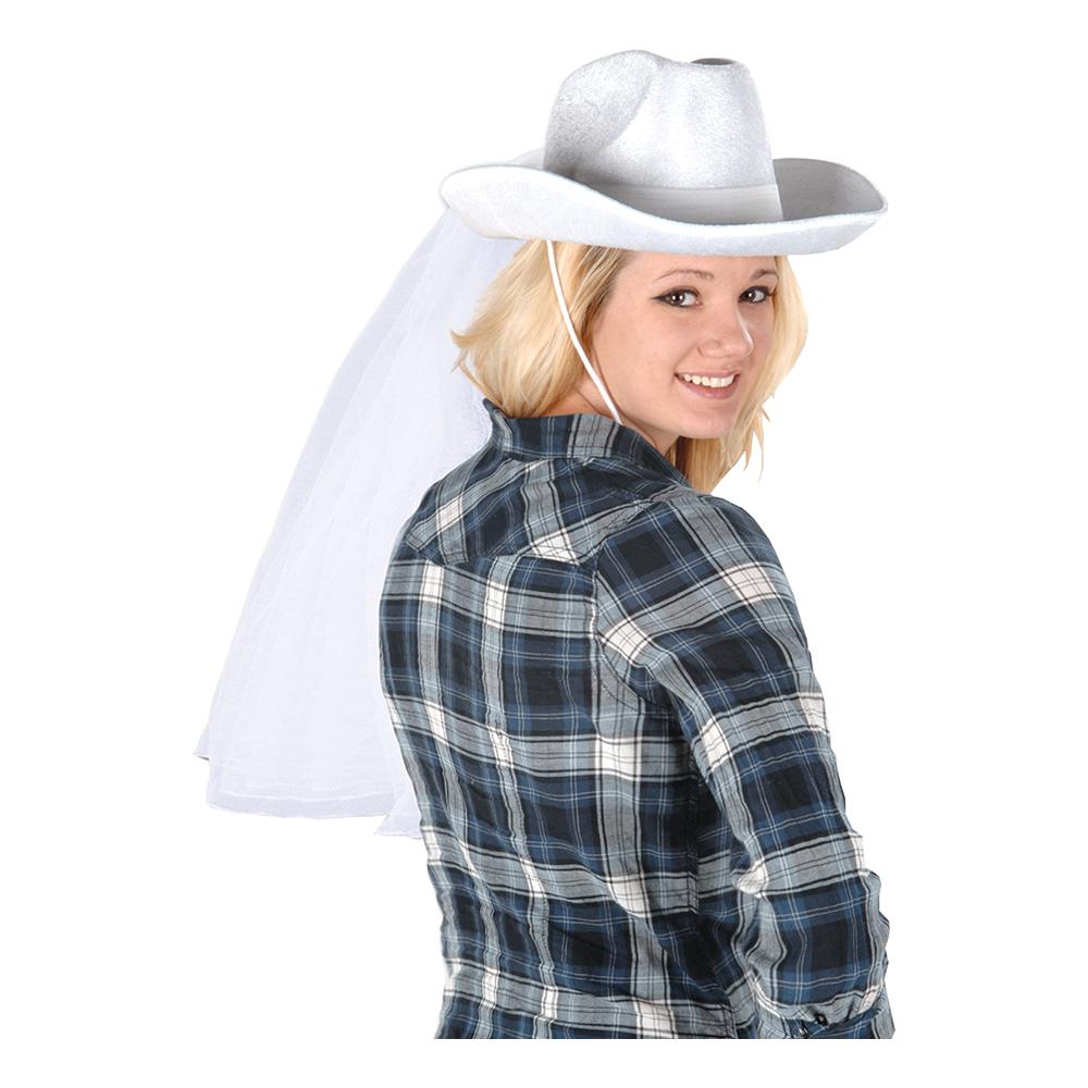 Cowboyhatt med Slöja