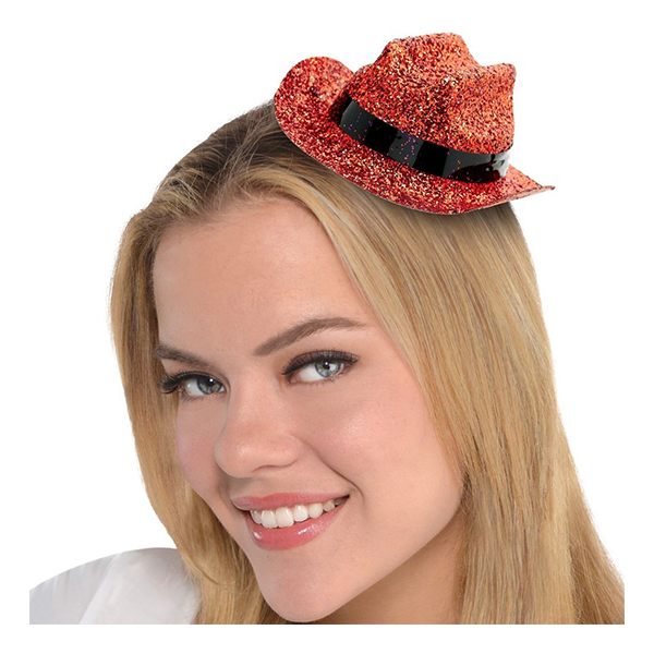 Cowboyhatt Mini Orange Glitter - One size