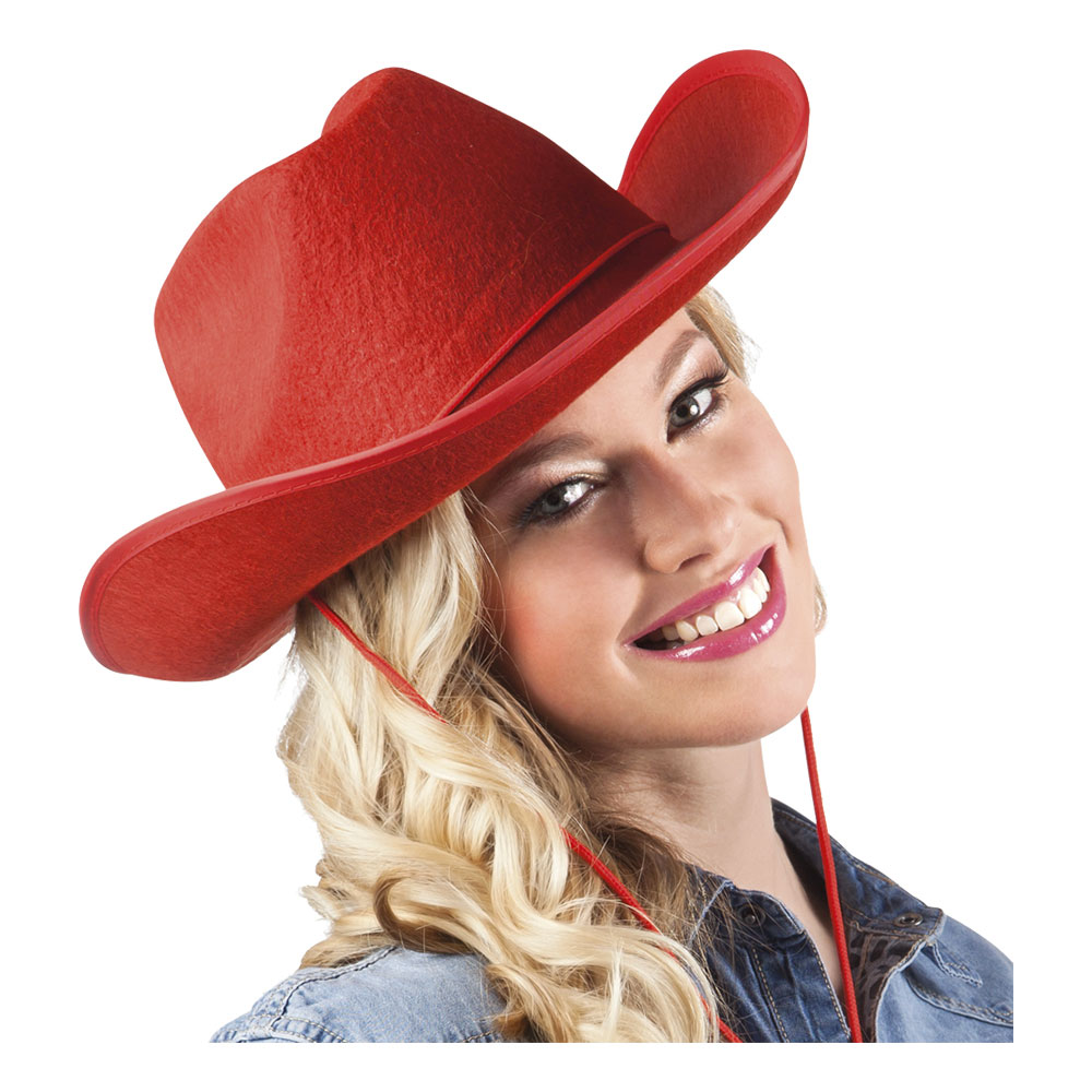 Cowboyhatt Rodeo Röd - One size