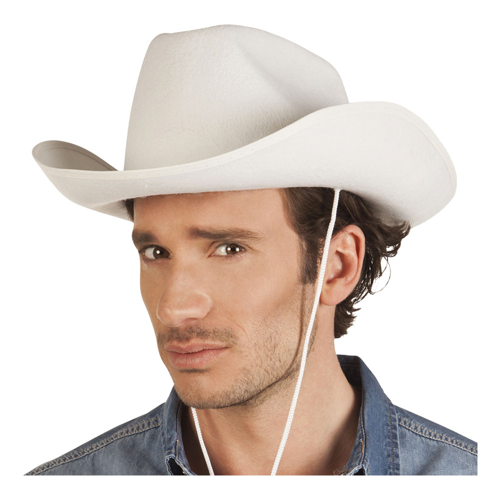 Cowboyhatt Rodeo Vit - One size