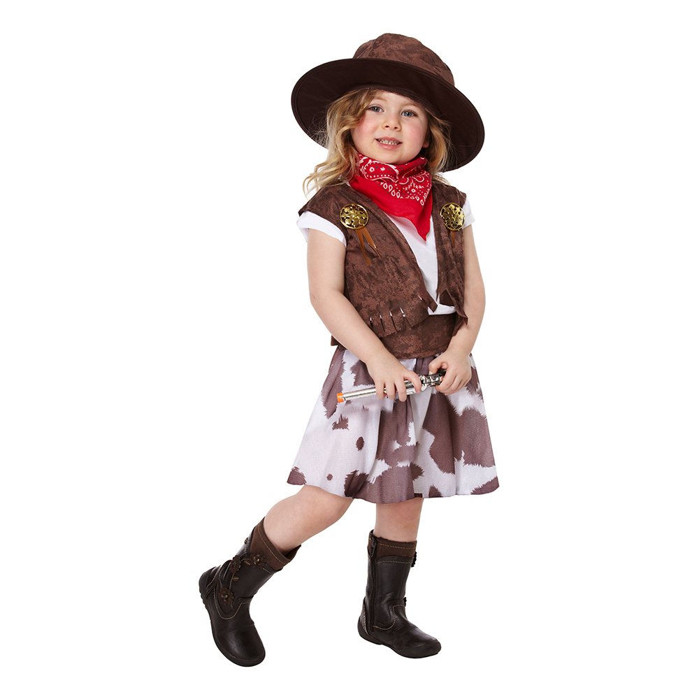 Cowgirl Toddler Maskeraddräkt - One size