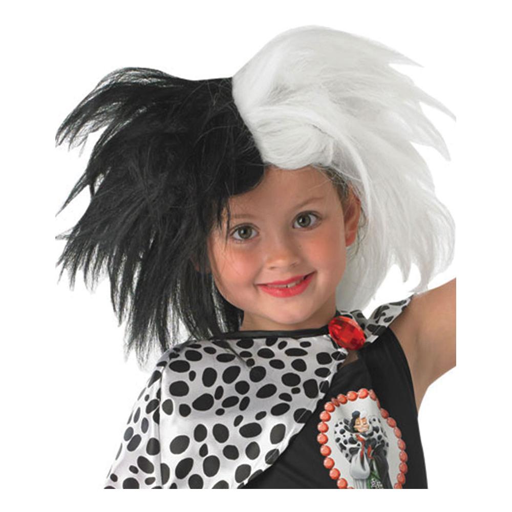 Cruella De Vil Barn Peruk - One size