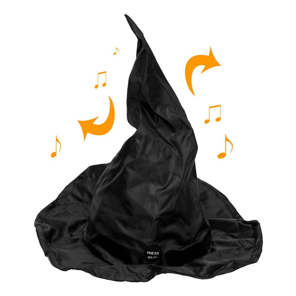 Dansande Häxhatt med Ljud - 40 cm