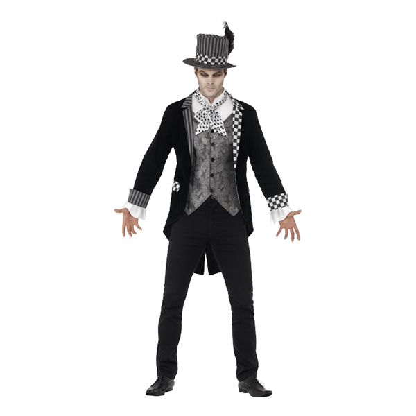 Black Hatter Maskeraddräkt - Large