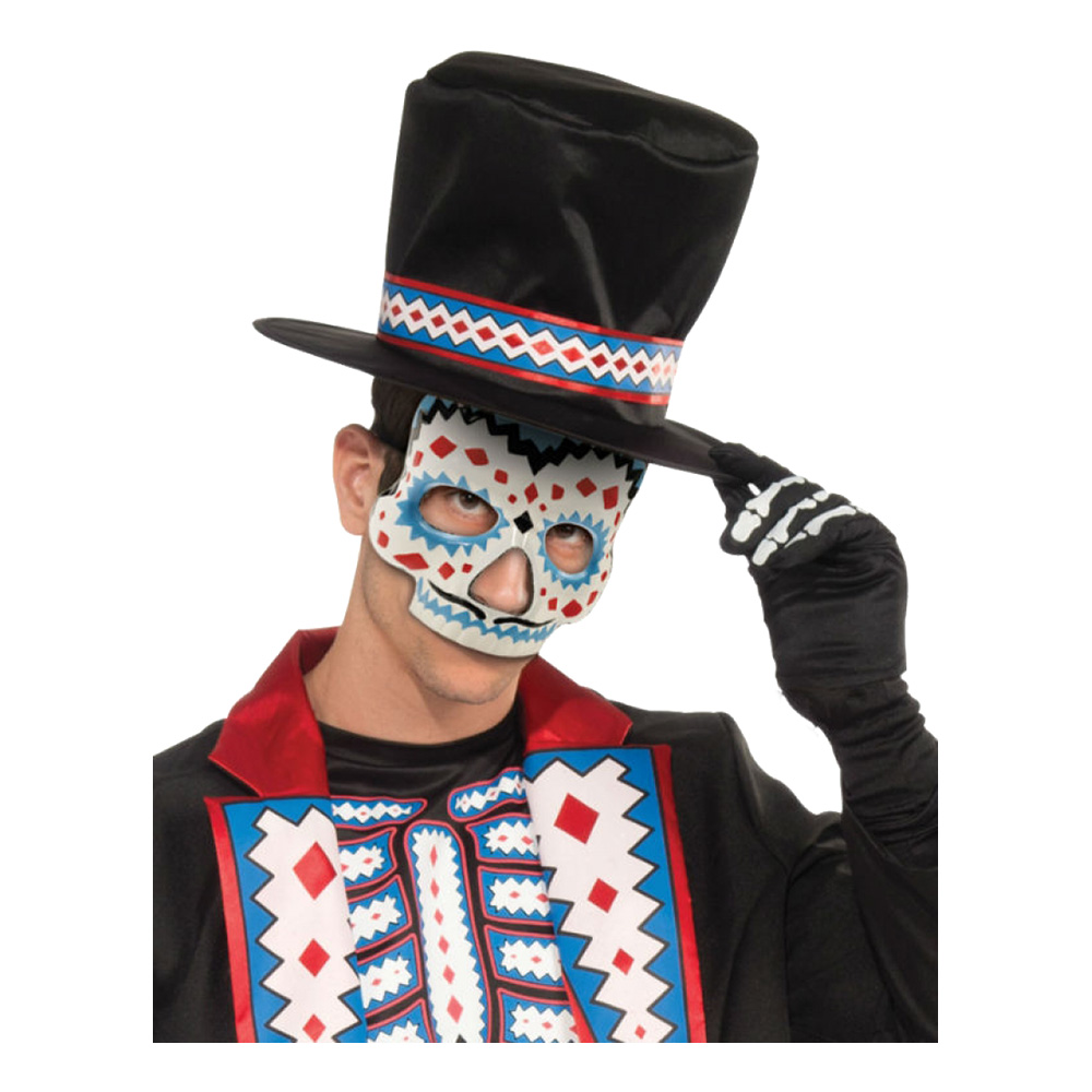 Day of the Dead Herre Halvmask - One size