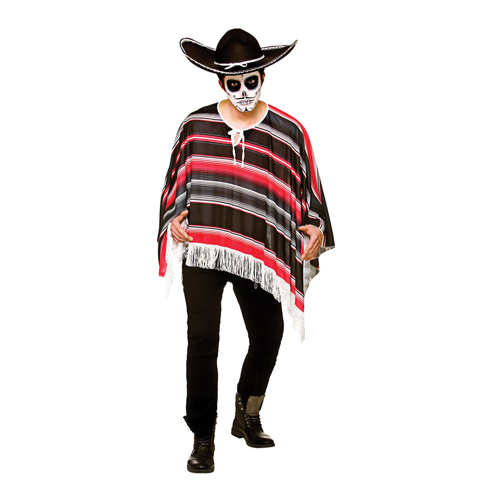 Day of The Dead Poncho - One size