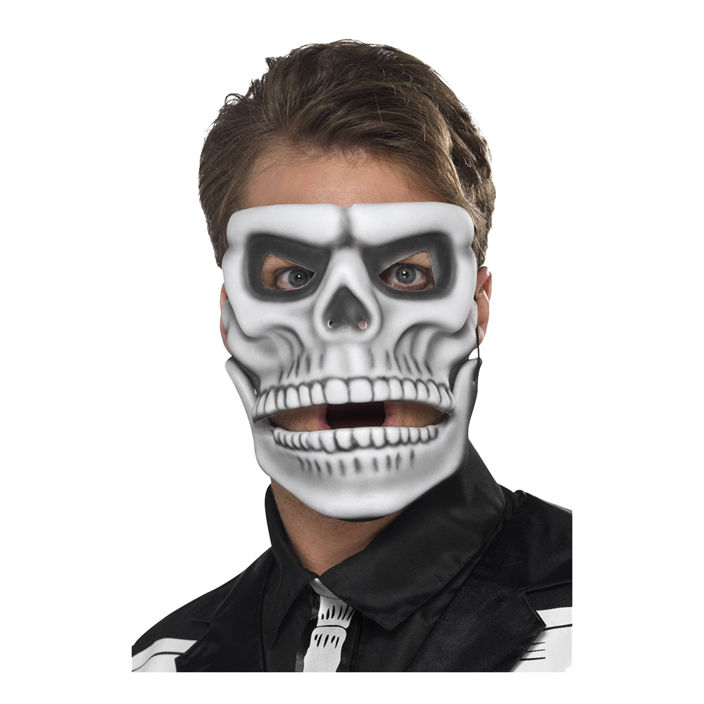 Day of the Dead Skelettmask Rörlig - One size