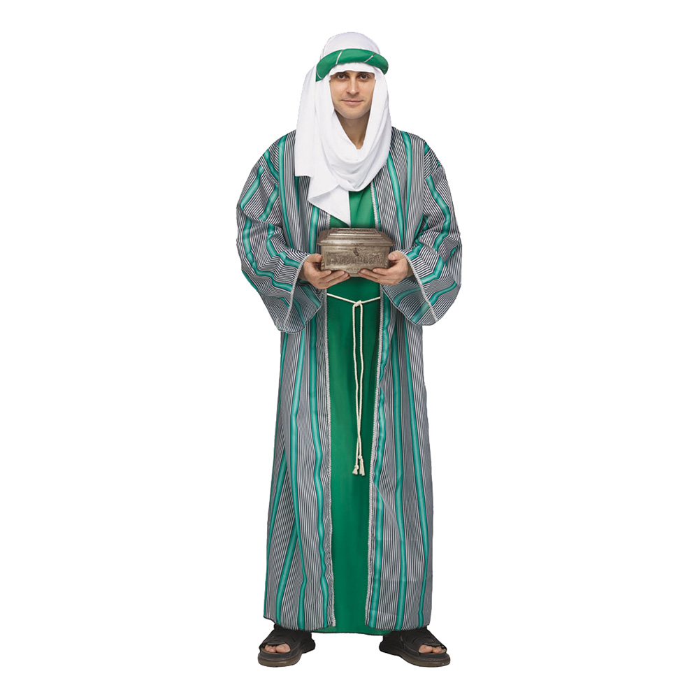 De Tre Vise Männen Grön Maskeraddräkt - One size