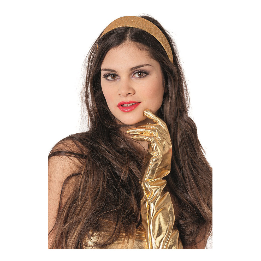 Diadem Glitter Guld - One size